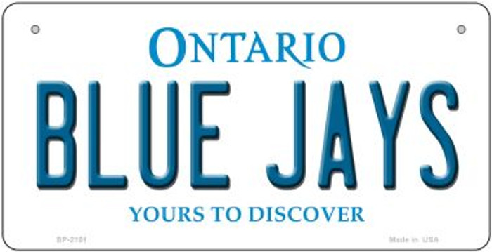 Blue Jays Ontario Novelty Metal Bicycle Plate BP-2101