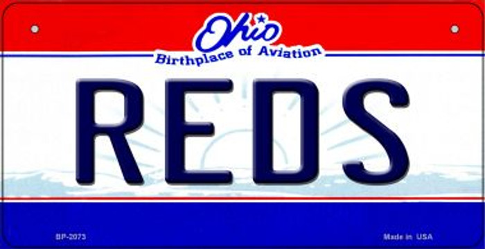 Reds Ohio Novelty Metal Bicycle Plate BP-2073