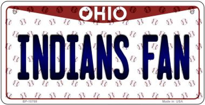 Indians Fan Ohio Novelty Metal Bicycle Plate BP-10788