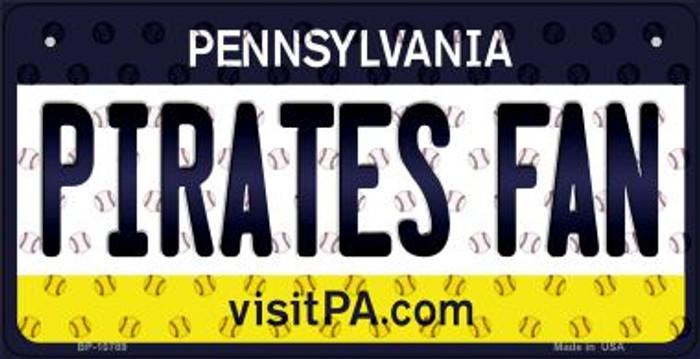 Pirates Fan Pennsylvania Novelty Metal Bicycle Plate BP-10789