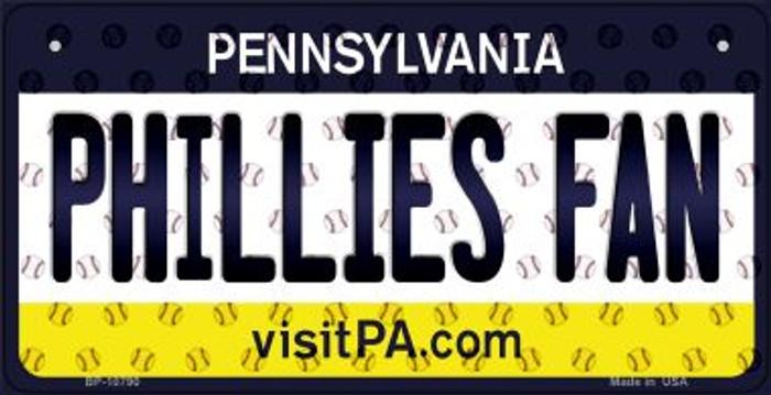 Phillies Fan Pennsylvania Novelty Metal Bicycle Plate BP-10790