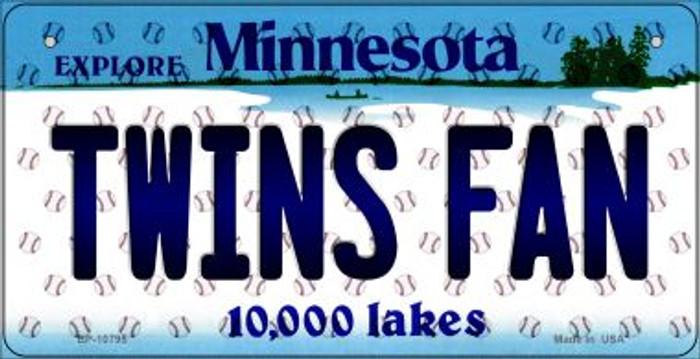 Twins Fan Minnesota Novelty Metal Bicycle Plate BP-10795