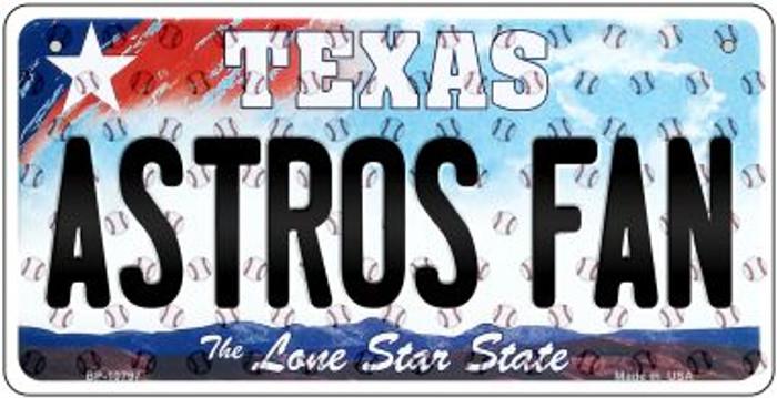 Astros Fan Texas Novelty Metal Bicycle Plate BP-10797