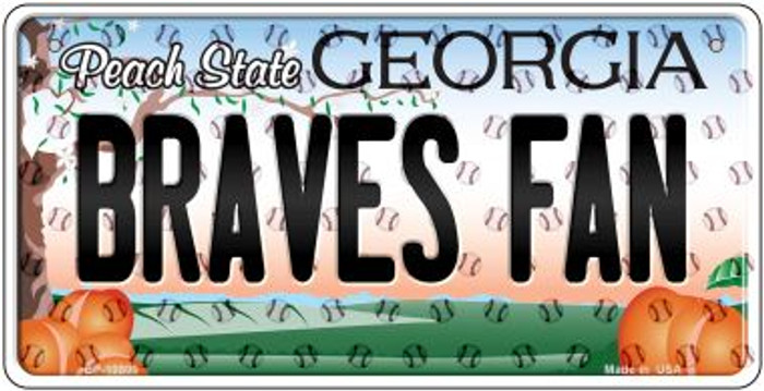 Braves Fan Georgia Novelty Metal Bicycle Plate BP-10800