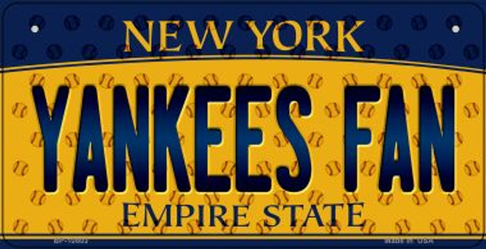 Yankees Fan New York Novelty Metal Bicycle Plate BP-10803