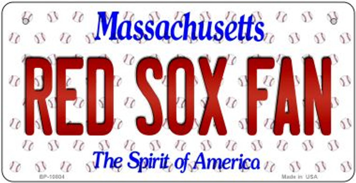 Red Sox Fan Massachusetts Novelty Metal Bicycle Plate BP-10804