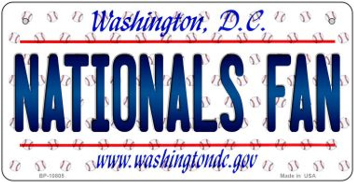 Nationals Fan Washington DC Novelty Metal Bicycle Plate BP-10805