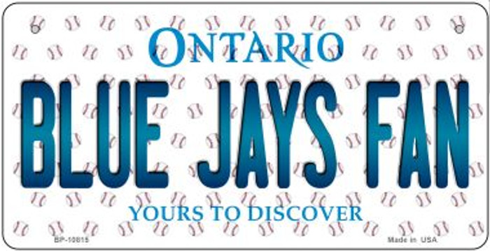 Blue Jays Fan Ontario Novelty Metal Bicycle Plate BP-10815