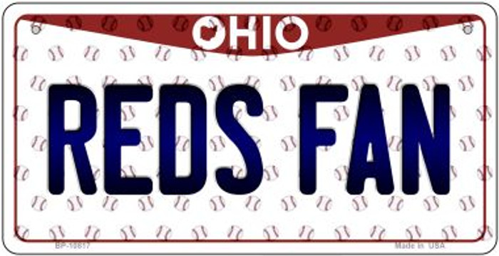 Reds Fan Ohio Novelty Metal Bicycle Plate BP-10817