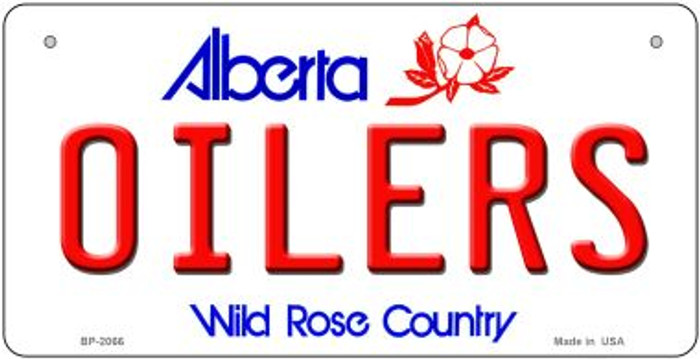 Oilers Alberta Novelty Metal Bicycle Plate BP-2066