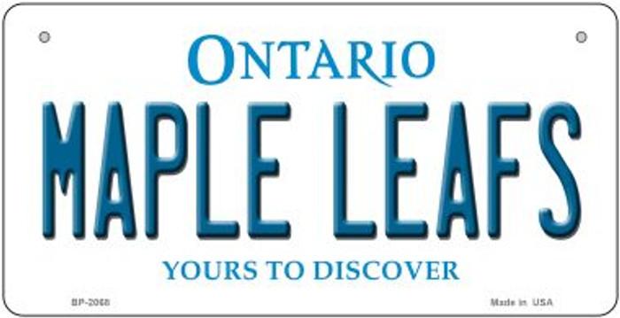 Maple Leafs Ontario Novelty Metal Bicycle Plate BP-2068