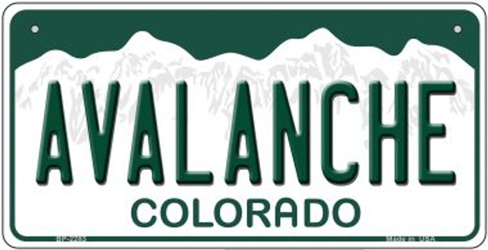 Avalanche Colorado Novelty Metal Bicycle Plate BP-2283