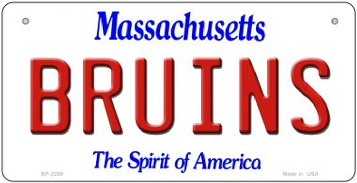 Bruins Massachusetts Novelty Metal Bicycle Plate BP-2288