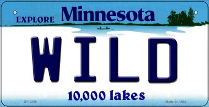 Wild Minnesota Novelty Metal Bicycle Plate BP-2290