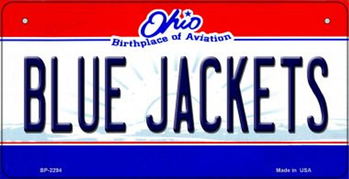 Blue Jackets Ohio Novelty Metal Bicycle Plate BP-2294