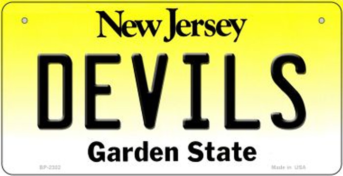 Devils New Jersey Novelty Metal Bicycle Plate BP-2302