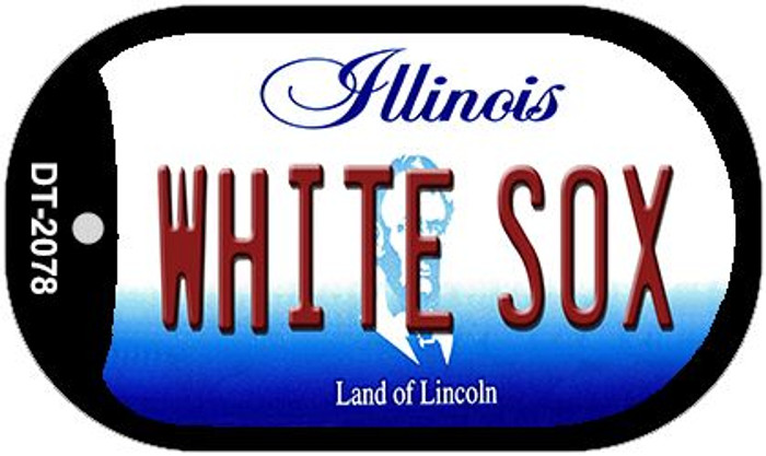 White Sox Illinois Novelty Metal Dog Tag Necklace DT-2078