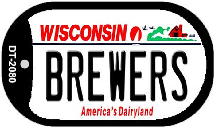 Brewers Wisconsin Novelty Metal Dog Tag Necklace DT-2080