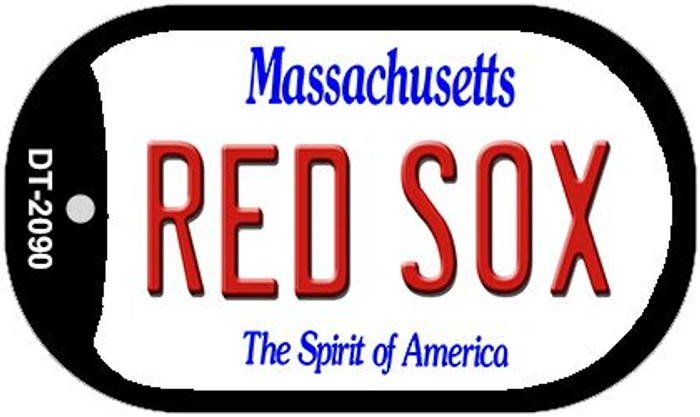 Red Sox Massachusetts Novelty Metal Dog Tag Necklace DT-2090