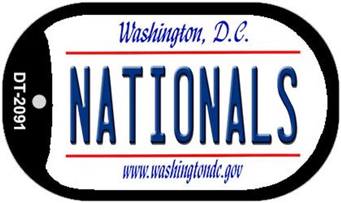 Nationals Washington DC Novelty Metal Dog Tag Necklace DT-2091