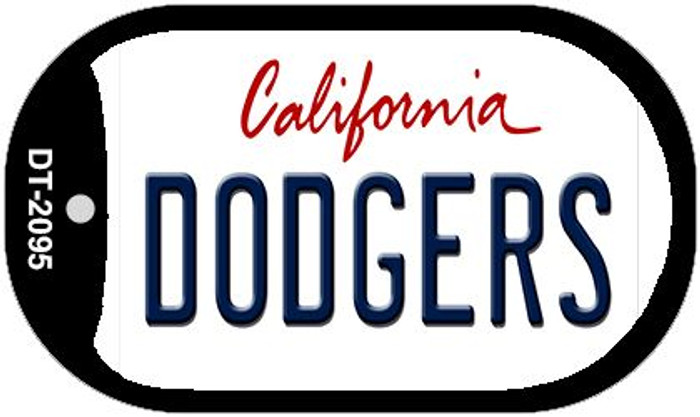 Dodgers California Novelty Metal Dog Tag Necklace DT-2095