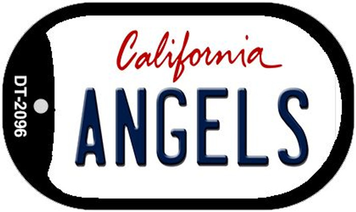 Angels California Novelty Metal Dog Tag Necklace DT-2096