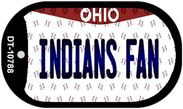 Indians Fan Ohio Novelty Metal Dog Tag Necklace DT-10788