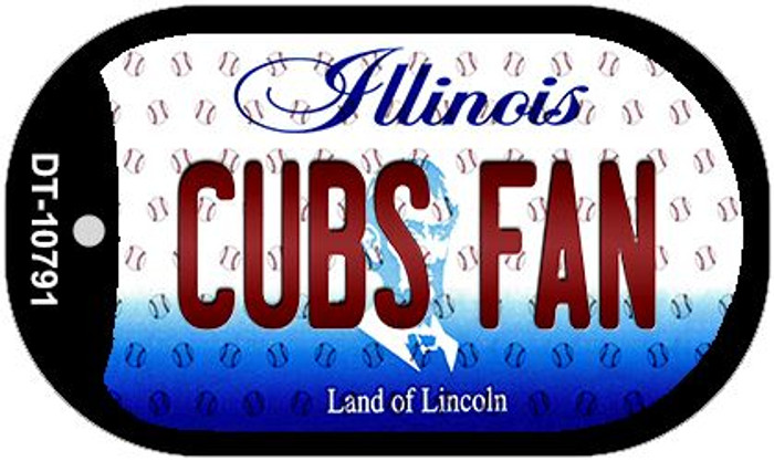 Cubs Fan Illinois Novelty Metal Dog Tag Necklace DT-10791
