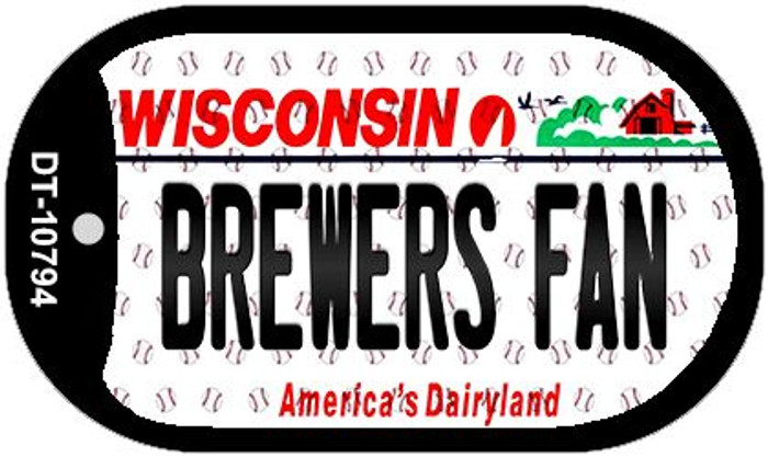 Brewers Fan Wisconsin Novelty Metal Dog Tag Necklace DT-10794
