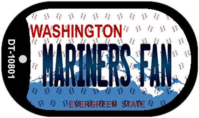 Mariners Fan Washington Novelty Metal Dog Tag Necklace DT-10801