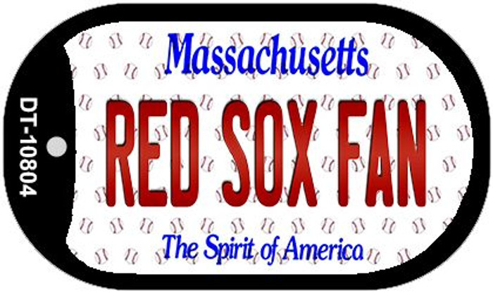Red Sox Fan Massachusetts Novelty Metal Dog Tag Necklace DT-10804