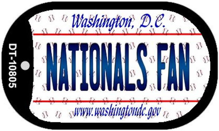 Nationals Fan Washington DC Novelty Metal Dog Tag Necklace DT-10805