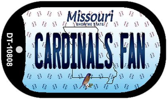 Cardinals Fan Missouri Novelty Metal Dog Tag Necklace DT-10808