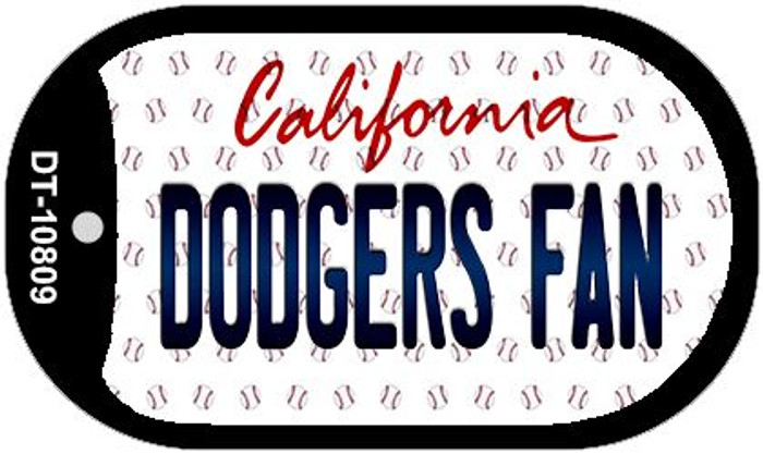 Dodgers Fan California Novelty Metal Dog Tag Necklace DT-10809