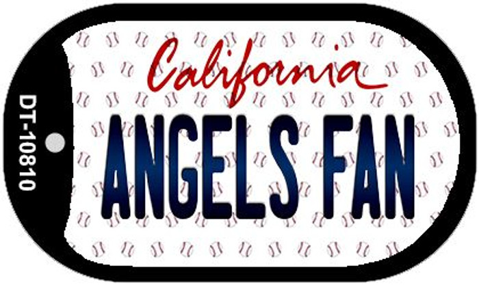 Angels Fan California Novelty Metal Dog Tag Necklace DT-10810