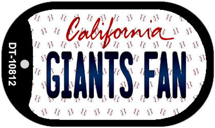 Giants Fan California Novelty Metal Dog Tag Necklace DT-10812