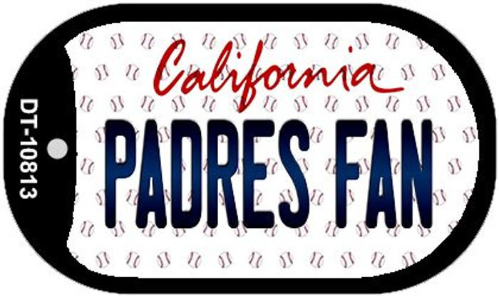 Padres Fan California Novelty Metal Dog Tag Necklace DT-10813
