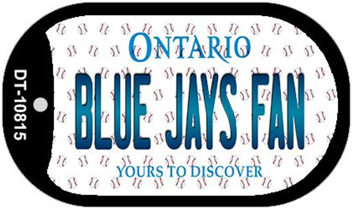 Blue Jays Fan Ontario Novelty Metal Dog Tag Necklace DT-10815