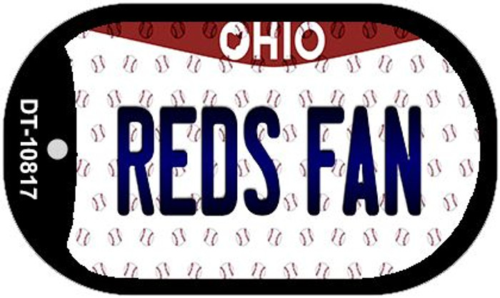 Reds Fan Ohio Novelty Metal Dog Tag Necklace DT-10817
