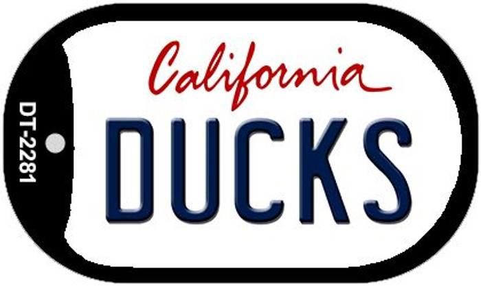 Ducks California Novelty Metal Dog Tag Necklace DT-2281