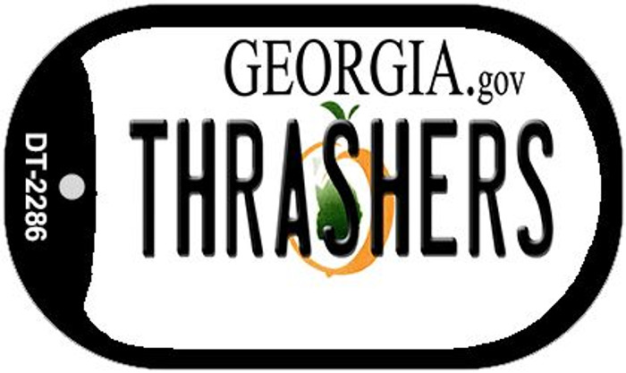 Thrashers Georgia Novelty Metal Dog Tag Necklace DT-2286
