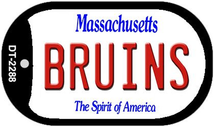 Bruins Massachusetts Novelty Metal Dog Tag Necklace DT-2288