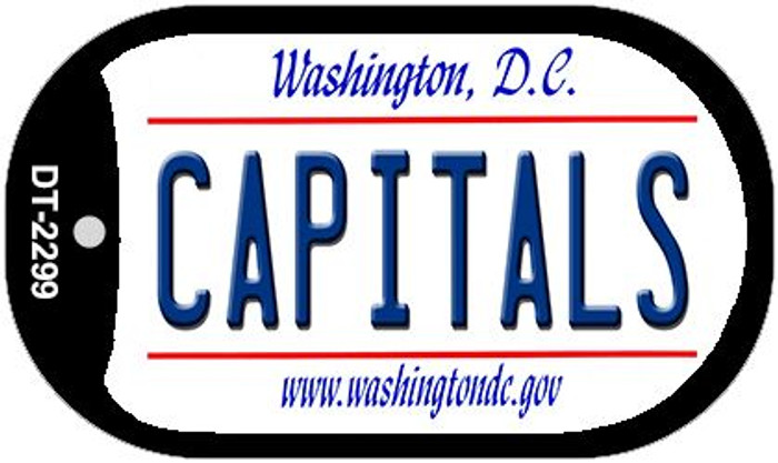Capitals Washington DC Novelty Metal Dog Tag Necklace DT-2299