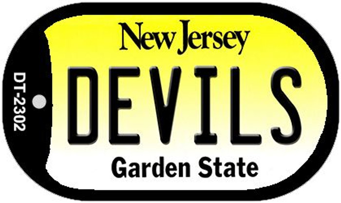 Devils New Jersey Novelty Metal Dog Tag Necklace DT-2302