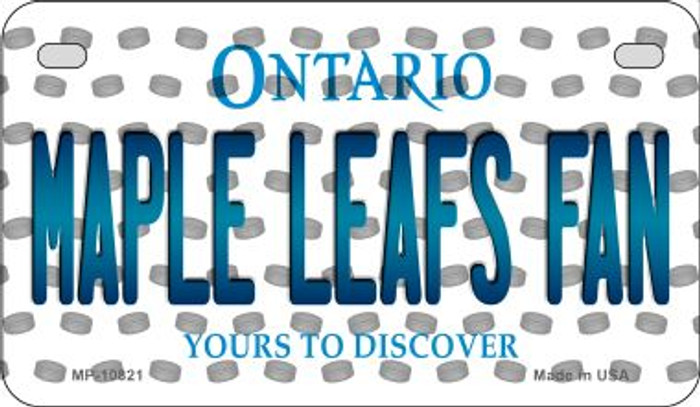 Maple Leafs Fan Ontario Novelty Metal Motorcycle Plate MP-10821