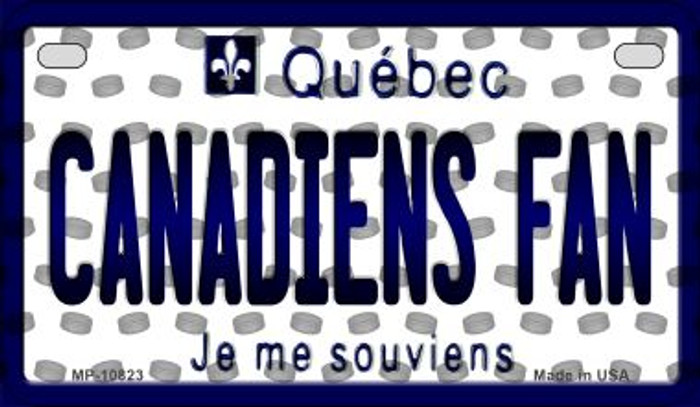 Canadiens Fan Quebec Novelty Metal Motorcycle Plate MP-10823
