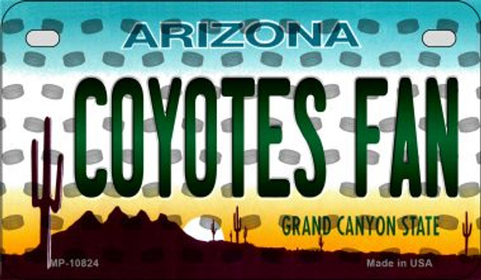 Coyotes Fan Arizona Novelty Metal Motorcycle Plate MP-10824