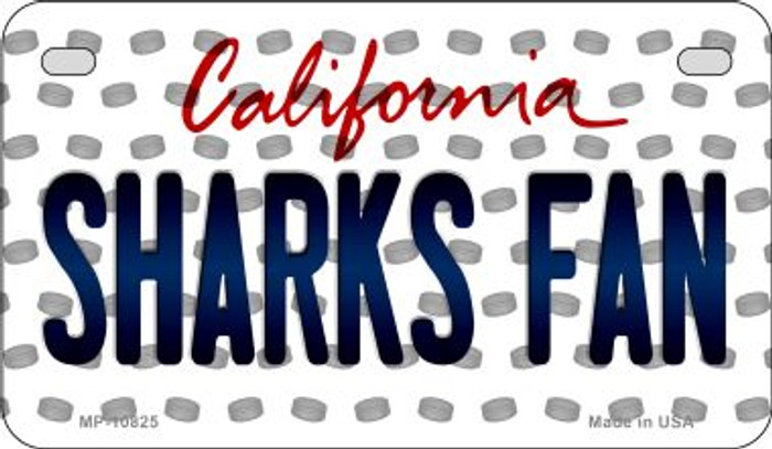 Sharks Fan California Novelty Metal Motorcycle Plate MP-10825