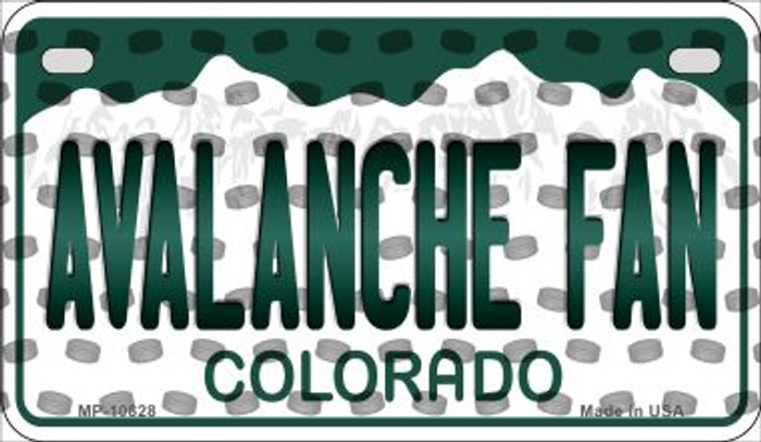 Avalanche Fan Colorado Novelty Metal Motorcycle Plate MP-10828