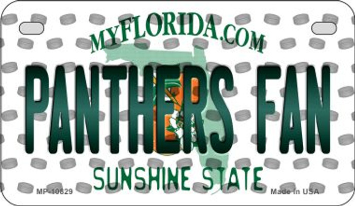 Panthers Fan Florida Novelty Metal Motorcycle Plate MP-10829
